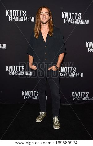 LOS ANGELES - SEP 30:  Rocky Lynch at the 2016 Knott's Scary Farm at Knott's Berry Farm on September 30, 2016 in Buena Park, CA