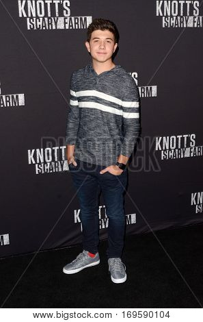 LOS ANGELES - SEP 30:  Bradley Steven Perry at the 2016 Knott's Scary Farm at Knott's Berry Farm on September 30, 2016 in Buena Park, CA