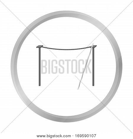 Tightrope icon in monochrome style isolated on white background. Circus symbol vector illustration.