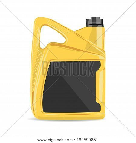 vector illustration of realistic motor oil canister. EPS