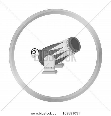 Circus cannon icon in monochrome style isolated on white background. Circus symbol vector illustration.