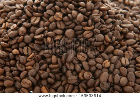 Whole coffee beans as background