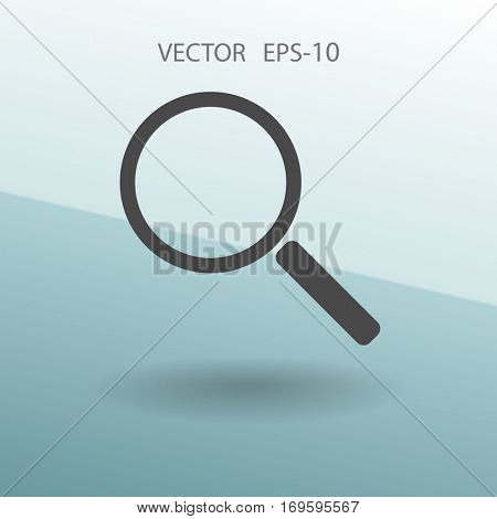 Flat icon of loupe. vector illustration
