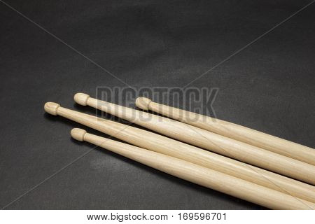 Drumsticks On A Black Background.