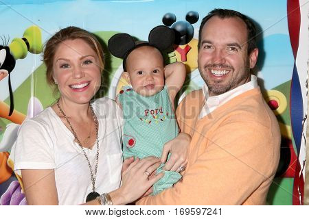 LOS ANGELES - DEC 4:  Virginia Williams, Ford Bricken, Bradford Bricken at the Amelie Bailey's 1st Birthday Party at Private Residence on December 4, 2016 in Studio CIty, CA