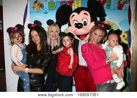 LOS ANGELES - DEC 4:  Phoenix Sursok-McEwan, T Sursok, Amelie Bailey, A Frantz , Mickey Mouse Character, V Williams, Ford Bricken at the Amelie Bailey's Party on December 4, 2016 in Studio CIty, CA
