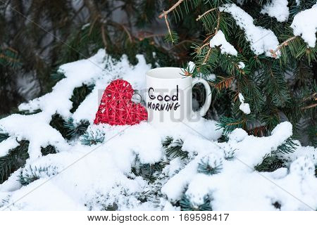 White Cup With Text