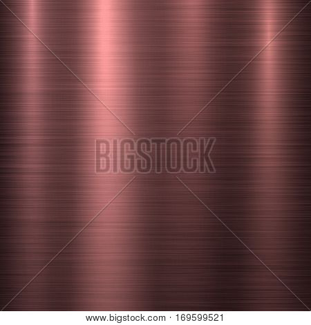 Bronze metal abstract technology background with polished, brushed texture, chrome, silver, steel, aluminum, copper for design concepts, web, prints, wallpapers, interfaces. Vector illustration.