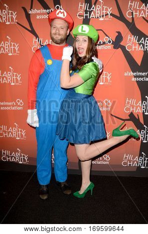 LOS ANGELES - OCT 15:  Seth Rogen, Lauren Miller at the 5th Annual Hilarity for Charity Variety Show: Seth Rogen's Halloween at Hollywood Palladium, on October 15, 2016 in Los Angeles, CA