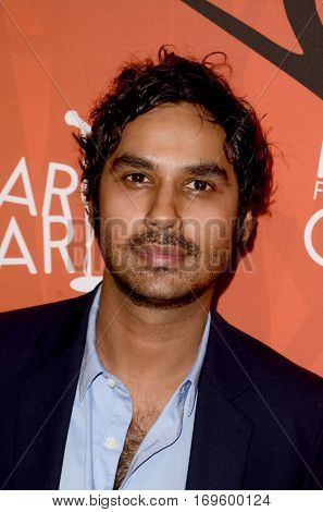 LOS ANGELES - OCT 15:  Kunal Nayyar at the 5th Annual Hilarity for Charity Variety Show: Seth Rogen's Halloween at Hollywood Palladium, on October 15, 2016 in Los Angeles, CA