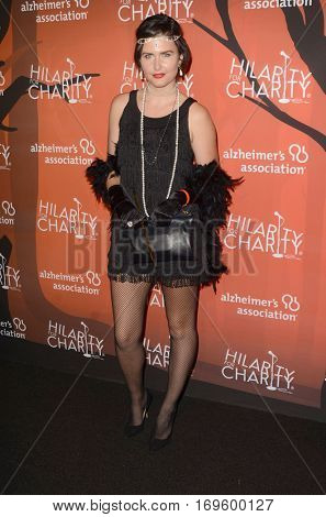 LOS ANGELES - OCT 15:  Amber Hodgkiss at the 5th Annual Hilarity for Charity Variety Show: Seth Rogen's Halloween at Hollywood Palladium, on October 15, 2016 in Los Angeles, CA