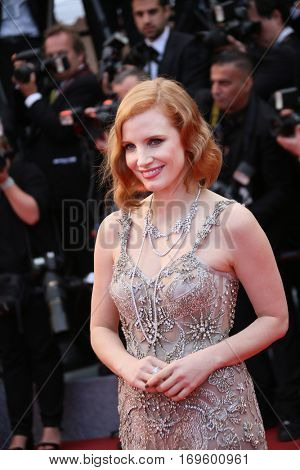 Jessica Chastain attends the 'Money Monster' Premiere during the 69th annual Cannes Film Festival on May 12, 2016 in Cannes, France.