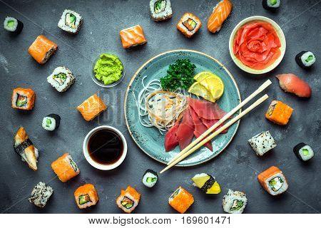 Japanese Sushi And Sashimi