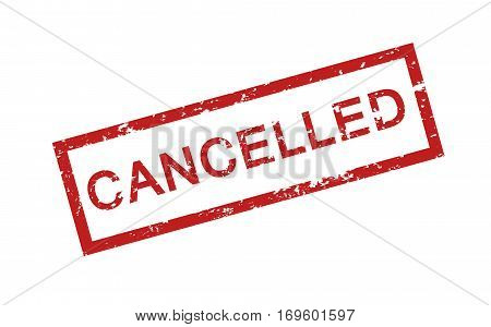 Cancelled stamp vector isolated on white background