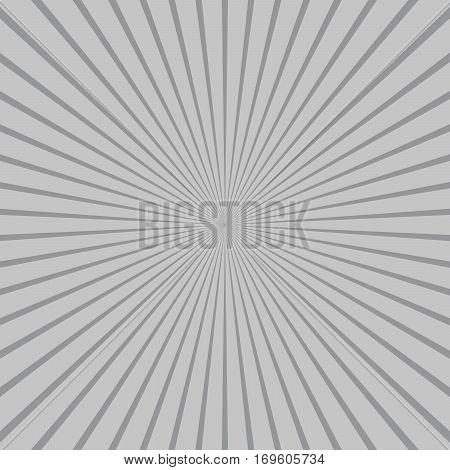Abstract sunbeams background. Gray sunbeams background. Vector illustration. Abstract bright background.