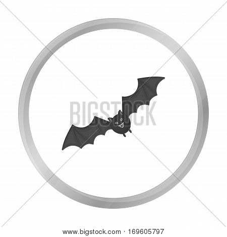 Bat icon in monochrome style isolated on white background. Black and white magic symbol vector illustration.