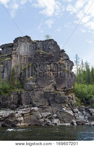 Big beautiful rivers of Eastern Siberia. Krasnoyarsk region.