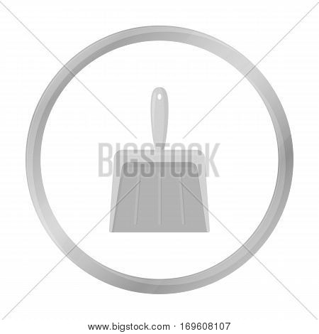 Dustpan monochrome icon. Illustration for web and mobile.