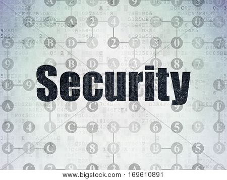 Security concept: Painted black text Security on Digital Data Paper background with  Scheme Of Hexadecimal Code