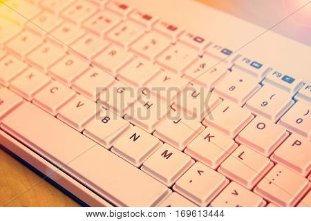 White Keyboard. Internet Browser.