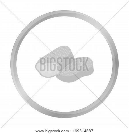 Nuggets vector illustration icon in monochrome design