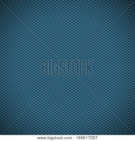 Blue carbon texture fiber background. Vector illustration