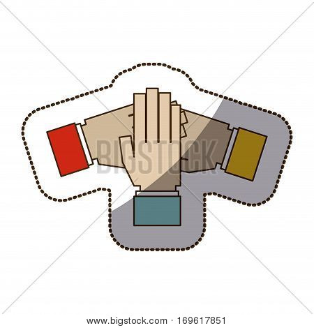Teamwork hands symbol icon vector illustration graphic design