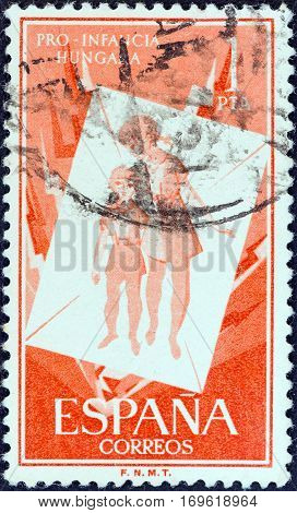 SPAIN - CIRCA 1956: A stamp printed in Spain from the