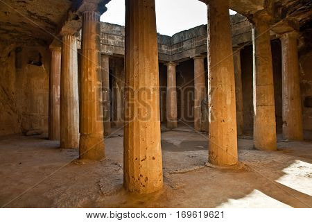 The Tombs of the Kings UNESCO World Heritage Site in Paphos city, Cyprus