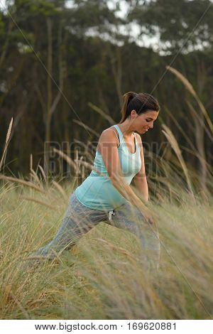Pregnant Sporty Woman On Outdoor Fitness Healthy Workout