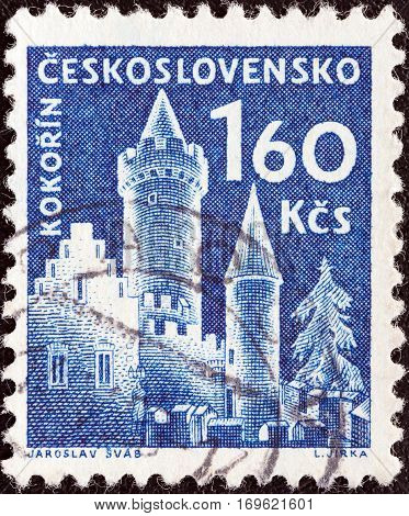CZECHOSLOVAKIA - CIRCA 1960: A stamp printed in Czechoslovakia from the