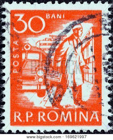 ROMANIA - CIRCA 1960: A stamp printed in Romania shows a doctor, circa 1960.