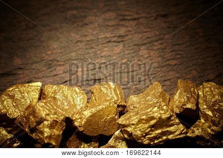 close-up mound of gold business and finance concept
