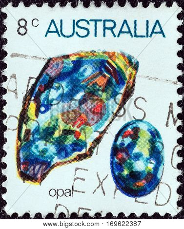 AUSTRALIA - CIRCA 1973: A stamp printed in Australia from the