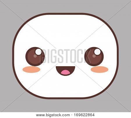 happy face kawaii icon image vector illustration design