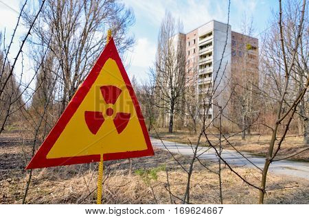 The Ruins Of The Abandoned City After The Explosion At Chernobyl