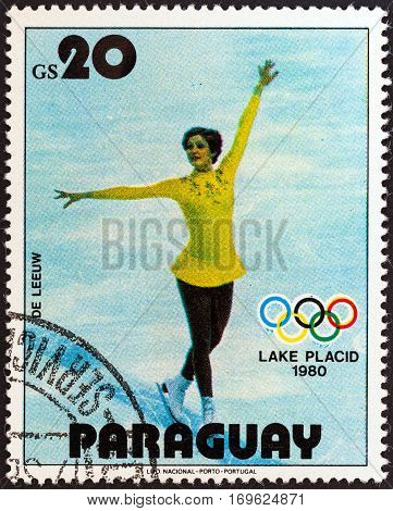 PARAGUAY - CIRCA 1979: A stamp printed in Paraguay from the