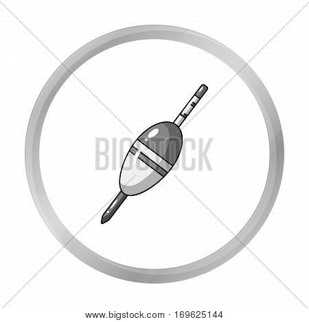Fishing float icon in monochrome design isolated on white background. Fishing symbol stock vector illustration.