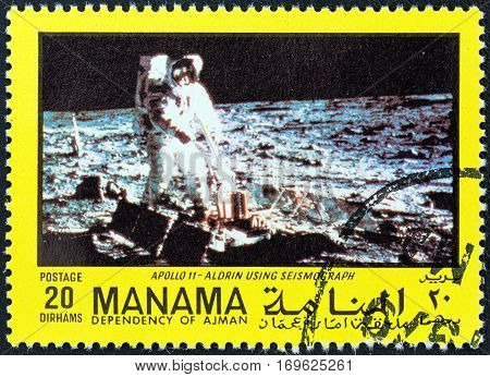 MANAMA DEPENDENCY - CIRCA 1970: A stamp printed in United Arab Emirates from the