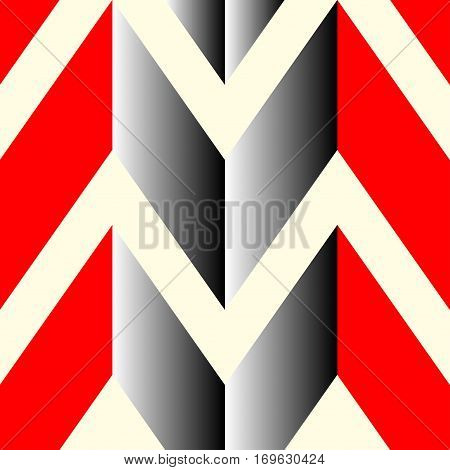 The pattern in which the red gray and white lines. Vector illustration