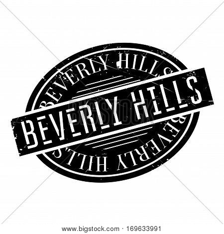 Beverly Hills rubber stamp. Grunge design with dust scratches. Effects can be easily removed for a clean, crisp look. Color is easily changed.