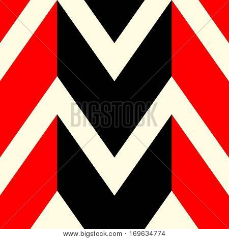 The pattern in which red black and white lines. Vector illustration