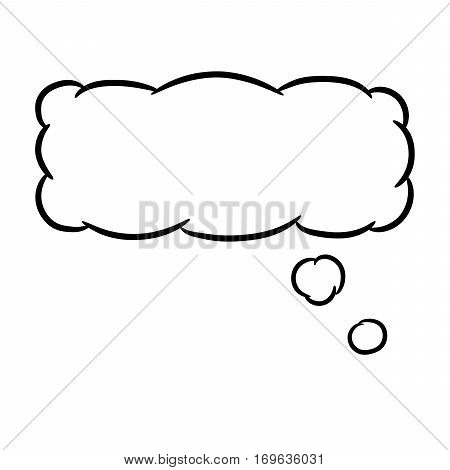 Cloud thought rectangular on white background of vector illustrations