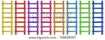 Wooden Step Ladder - Colorful