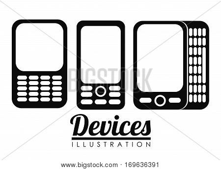 cellphones with buttons  icon image vector illustration design