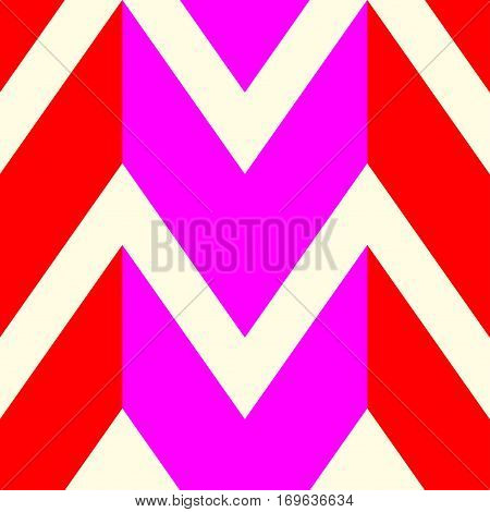 The pattern in which the red pink and white lines. Vector illustration