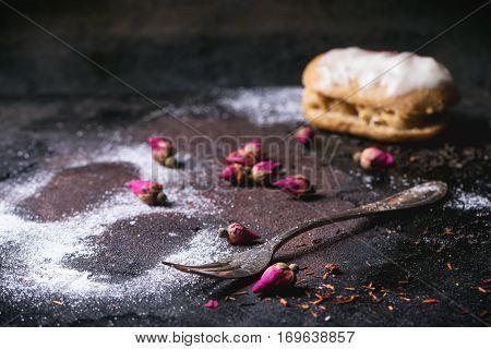 Eclairs With Sugar Powder
