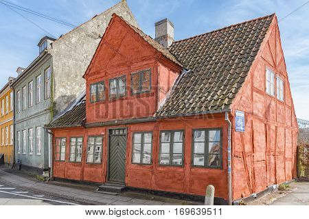 One of the many quaint little buildings in the old town of Helsingor in Denmark.