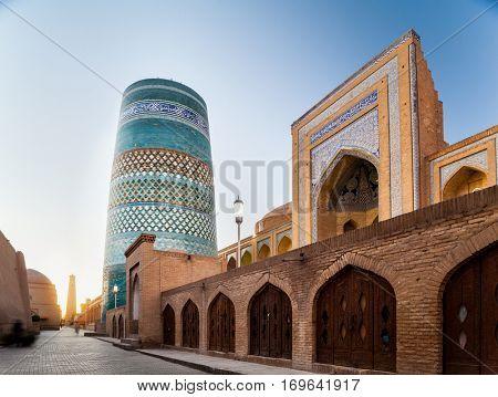 Oriental buildings of old city of Itchan Kala. Khiva, Uzbekistan
