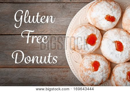 Gluten free donuts concept